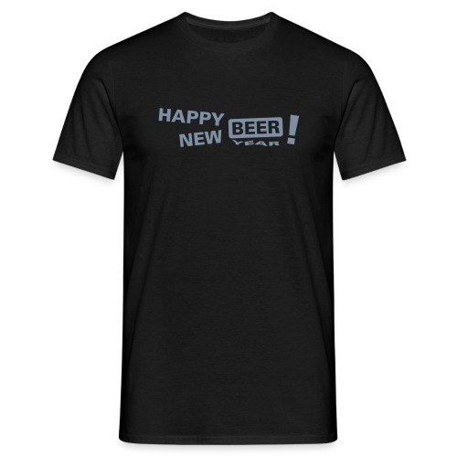 T-shirt: Happy new beer - T-shirt herr