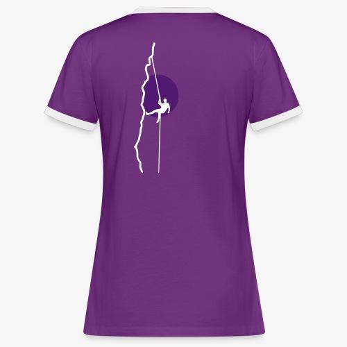 Abseiler in der Sonne (women) - Frauen Kontrast-T-Shirt