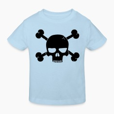 skull with bones / pirate Børne T-shirts
