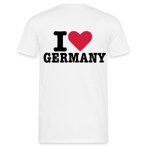 I LOVE GERMANY - T-Shirt Weis - Männer T-Shirt
