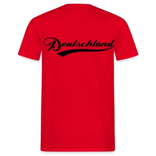 Deutschland - moderner Schriftzug - T-Shirt Rot - Männer T-Shirt