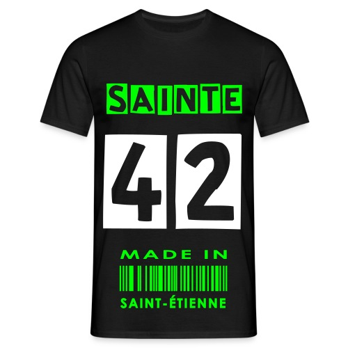 T-SHIRT MADE IN SAINT-ETIENNE NOIR - T-shirt Homme