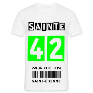 T-SHIRT MADE IN SAINT-ETIENNE BLANC - T-shirt Homme