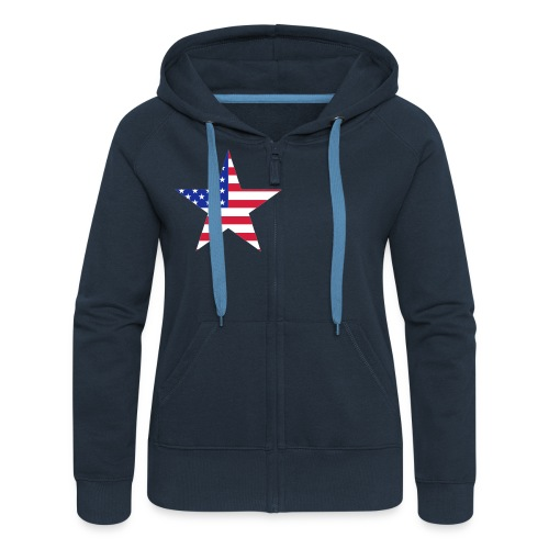 veste a capuche USA - Veste à capuche Premium Femme