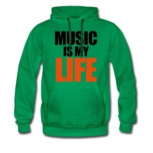 Music Is My Life Shirt - Mannen Premium hoodie