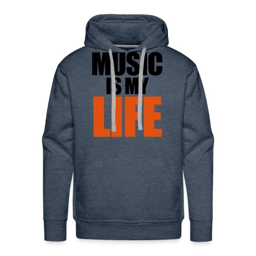 Music Is My Life Shirt - Mannen Premium hoodie