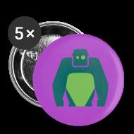 Buttons & Anstecker ~ Buttons mittel 32 mm ~ Fancy Button - Grünes Logo