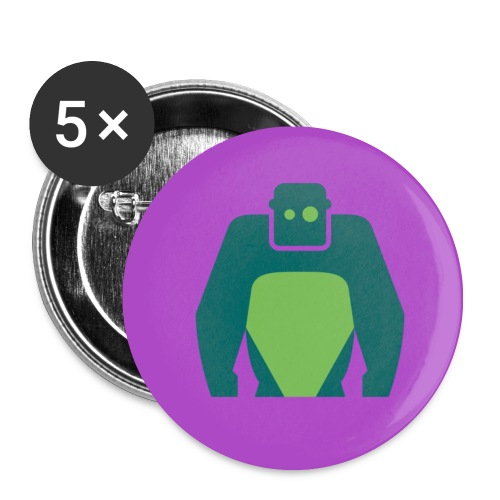 Fancy Button - Grünes Logo - Buttons mittel 32 mm