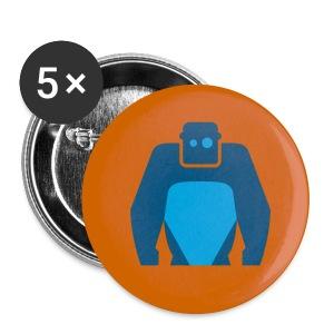 Fancy Button - Blaues Logo - Buttons mittel 32 mm