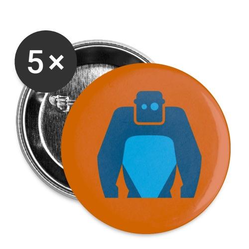 Fancy Button - Blaues Logo - Buttons mittel 32 mm (5er Pack)