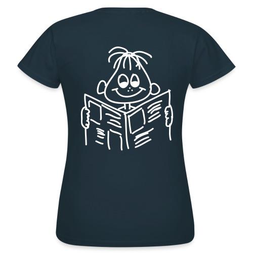 Frauen T-Shirt Druck Rückseite - Frauen T-Shirt