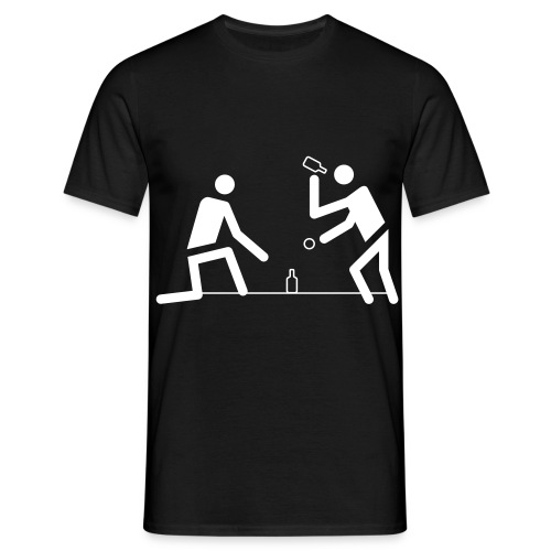 Flunkyball shirt schmeissen laufen - Männer T-Shirt