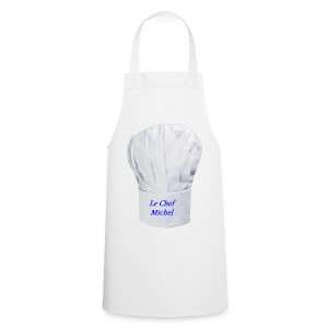 TABLIER BLANC TOQUE CHEF MICHEL - Tablier de cuisine