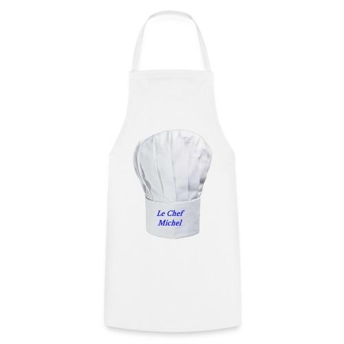 TABLIER BLANC TOQUE CHEF MICHEL - Tablier de cuisine