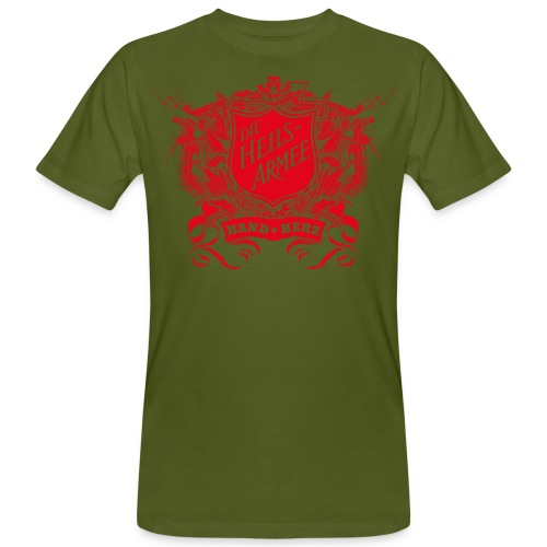 Vintage Shield - mit Rückendruck (rot) - Männer Bio-T-Shirt