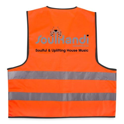 Hi Visibility Vest Fluo Orange with Silver & Black print. - Reflective Vest