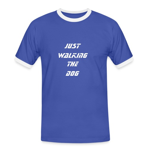 Walking the dog. - Men's Ringer Shirt