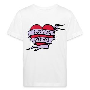 T-shirt love mom - Kinderen Bio-T-shirt