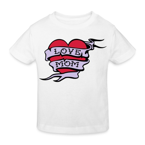 T-shirt love mom - Kinderen Bio-T-shirt