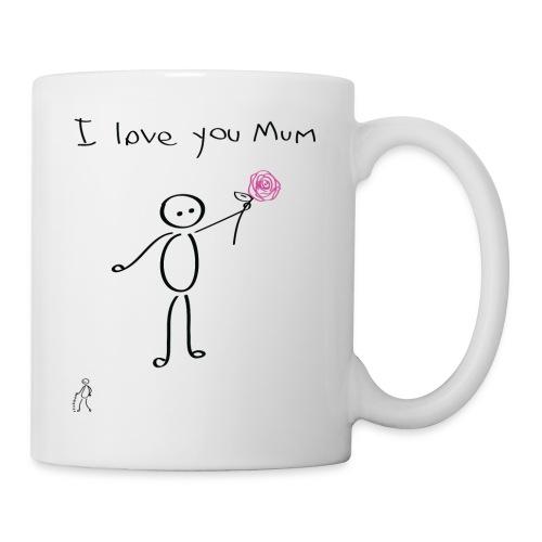 Stickman - I love you mum - Mother's Day - Mug