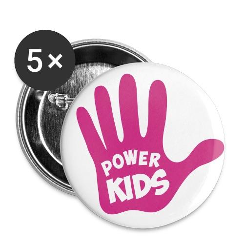 Power-Kids Fan-Button - Buttons mittel 32 mm