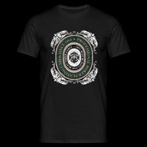 Poker Cards 1864 white (oldstyle) - Männer T-Shirt