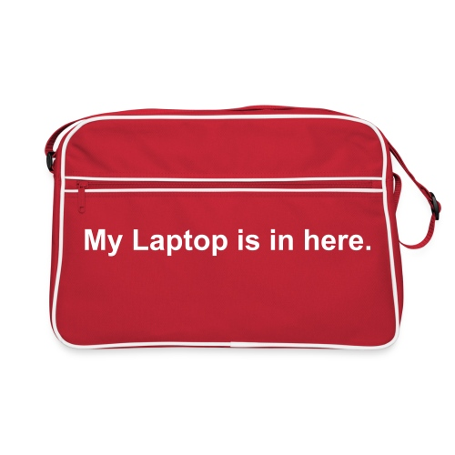 My Laptop is in here. - Retro Bag