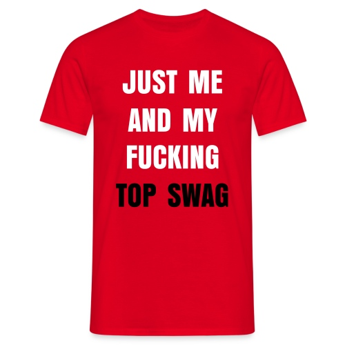 'JUST ME AND MY SWAG' T-shirt - Herre-T-shirt