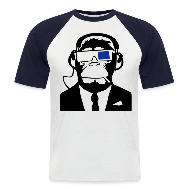 3D Monkey - Men's Baseball T-Shirt