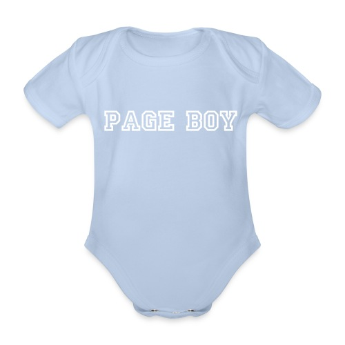 Toddler Page Boy One-Piece - Organic Short-sleeved Baby Bodysuit