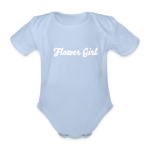 Toddler Flower Girl One-Piece - Organic Short-sleeved Baby Bodysuit