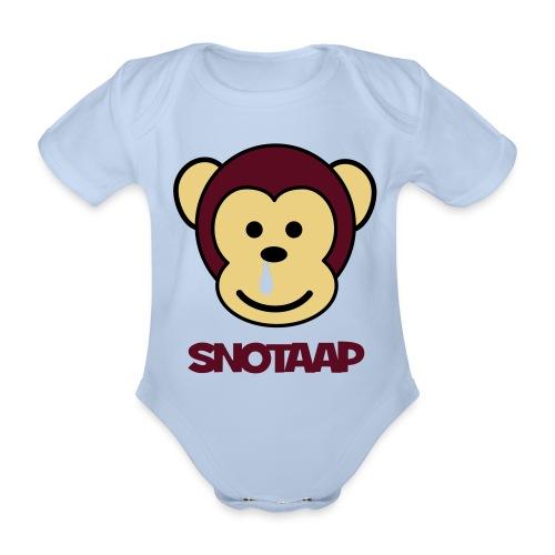 Snotaap! - Baby bio-rompertje met korte mouwen