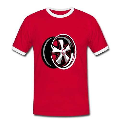 FoxyRed - Männer Kontrast-T-Shirt