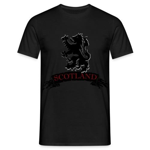 Scotland: Lion Rampant with Scroll - Men's T-Shirt