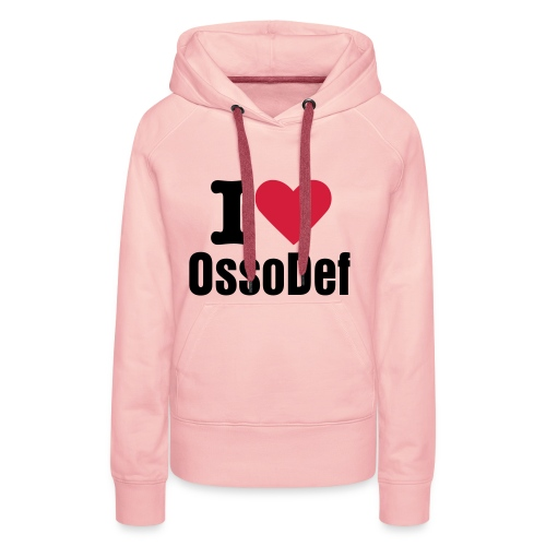 OssoDef Official Womans Hoody (Pink) - Women's Premium Hoodie