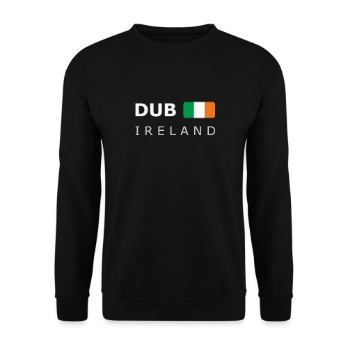 Men's Pullover T-Shirt DUB IRELAND white-lettered - Men's Sweatshirt