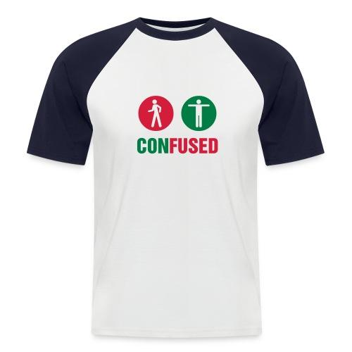 Confused - Kortærmet herre-baseballshirt