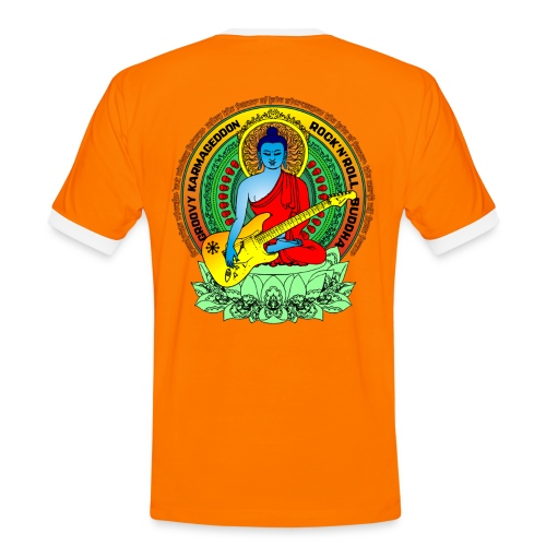 Rock'n'Roll Buddha Shockshirt - Männer Kontrast-T-Shirt