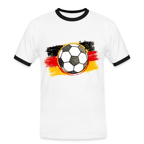 Herren T-Shirt Deutschland - Männer Kontrast-T-Shirt