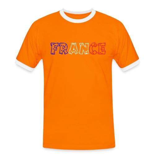 T-shirt Homme - France tricolore Tip - T-shirt contrasté Homme
