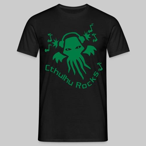 MTEg: Cthulhu Rocks (green) - Men's T-Shirt
