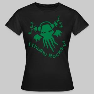 WTEg: Cthulhu Rocks (green) - Women's T-Shirt