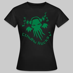WTEg: Cthulhu Rocks (green) - Women's T-Shirt