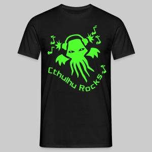 MTEng: Cthulhu Rocks (neon green) - Men's T-Shirt
