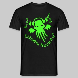 MTEng: Cthulhu Rocks (neon green) - Men's T-Shirt