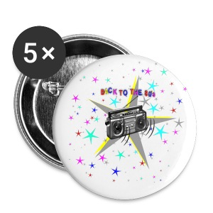 Back to the 80`s Button - Buttons groß 56 mm