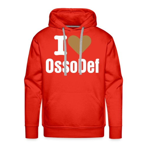 OssoDef Official Mens Hoody (Red) - Men's Premium Hoodie