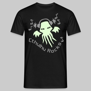 MTEdldk: Cthulhu Rocks (2 colours) - Men's T-Shirt