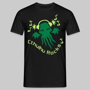 MTEdhg: Cthulhu Rocks (2 colours) - Men's T-Shirt