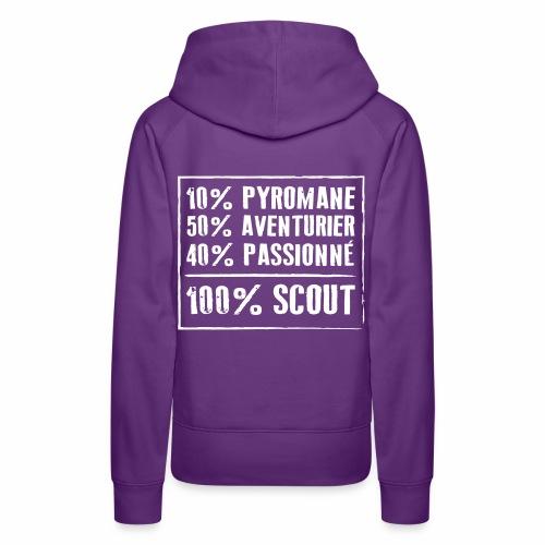 100% Scout - Sweat-shirt à capuche Premium pour femmes